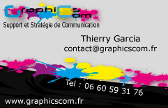 Carte de visite GraphicsCom